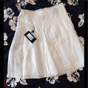 NWT Burberry Chalk White Bamboo Skirt 4